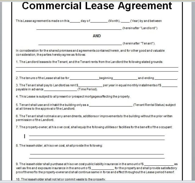 Commercial Lease Agreement Template 24