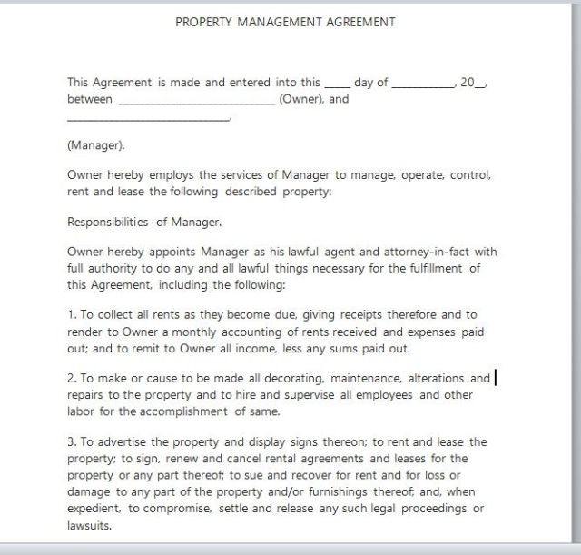 Property Management Agreement 11