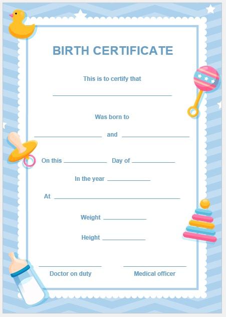Birth Certificate Template 06