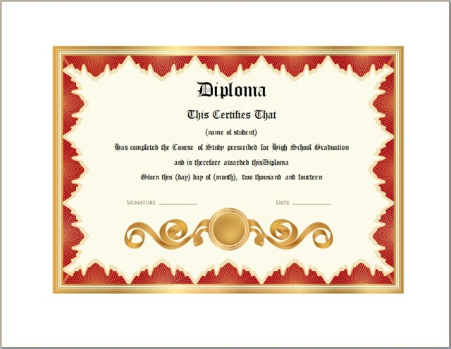 Diploma Certificate Template 05