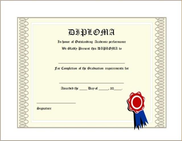 Diploma Certificate Template 20