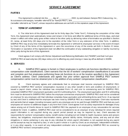 Service Agreement Template 03