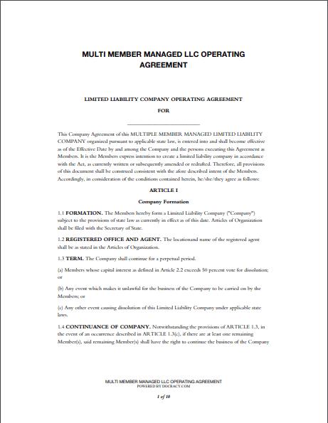 llc operating agreement template 04