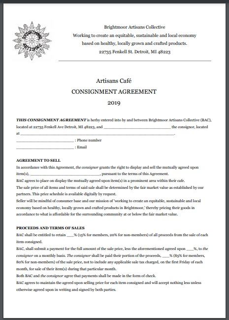 Consignment agreement template 12