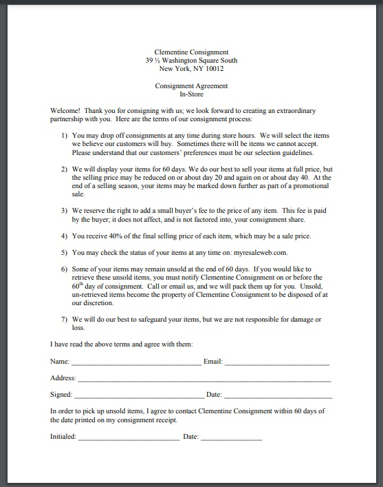 Consignment agreement template 14