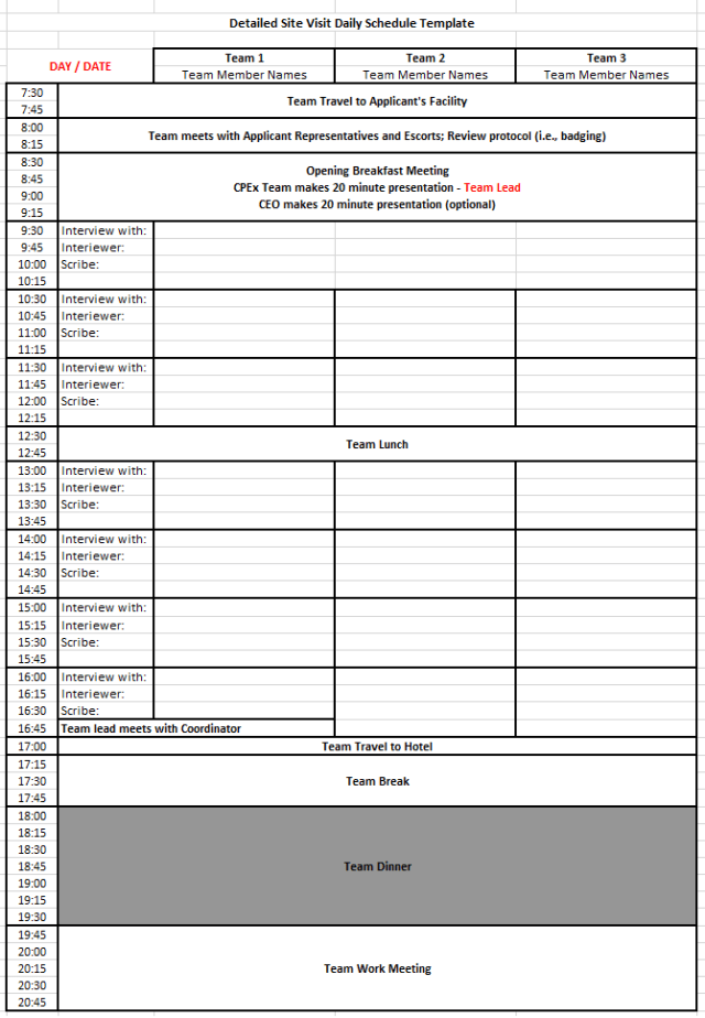 Daily Work Schedule Templates 05.