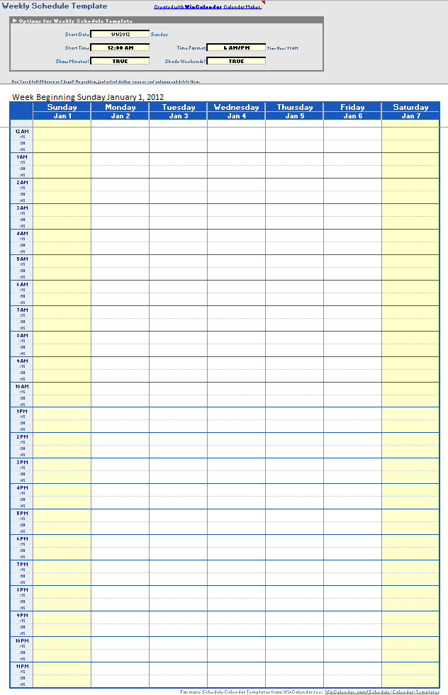 Daily Work Schedule Templates 09