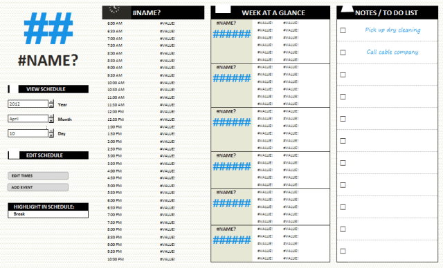 Daily Work Schedule Templates 12.