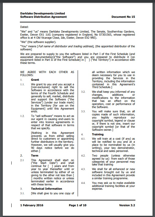 Distribution agreement template 17..