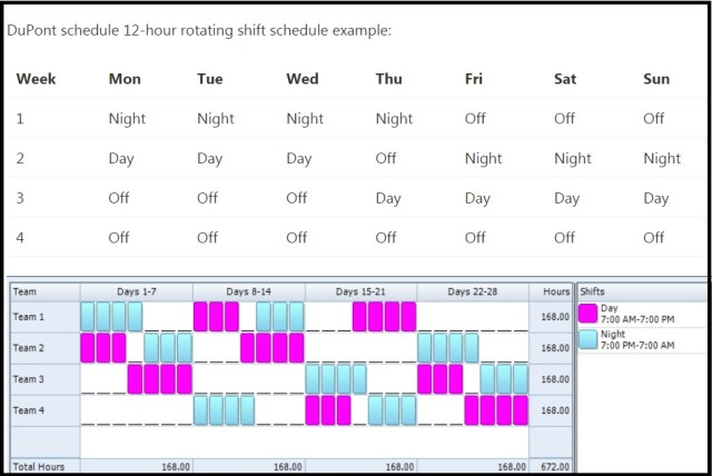 Dupont schedule Template 06