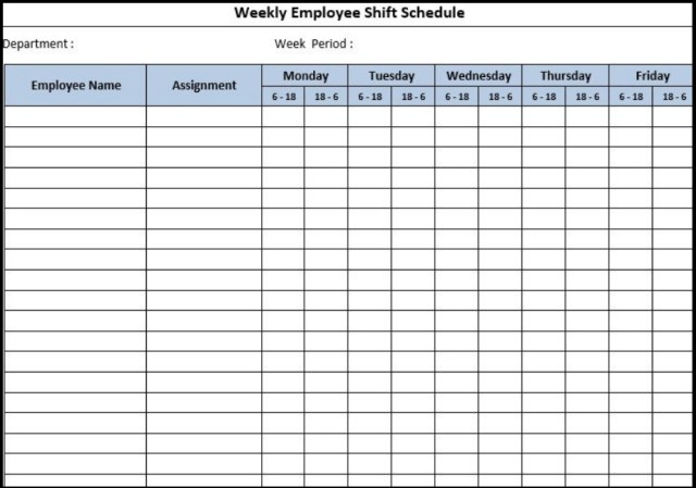 Dupont schedule Template 11
