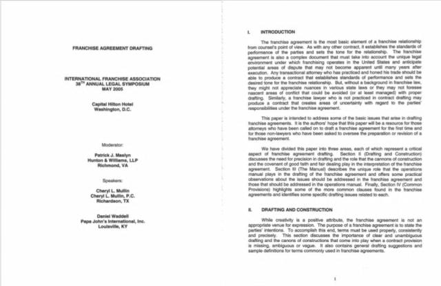 Franchising Agreement 07