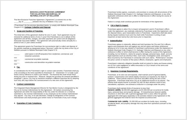 Franchising Agreement 08..