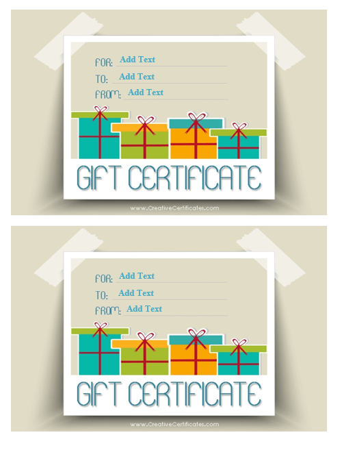 Gift Certificate Template 06