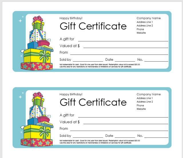Gift Certificate Template 15