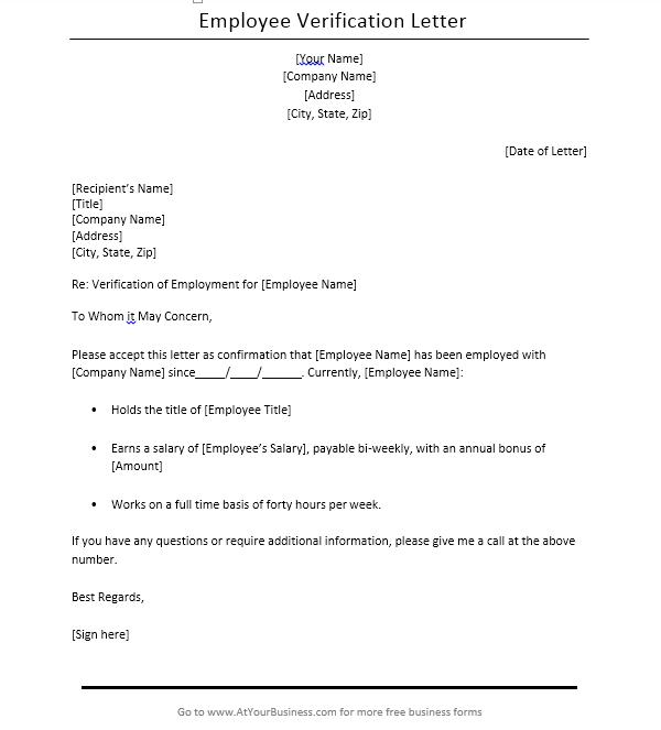 Income Verification Letter Sample 09