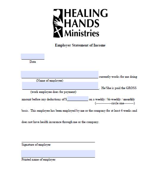Income Verification Letter Sample 15