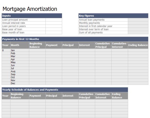Loan Amortization Schedule Template 06