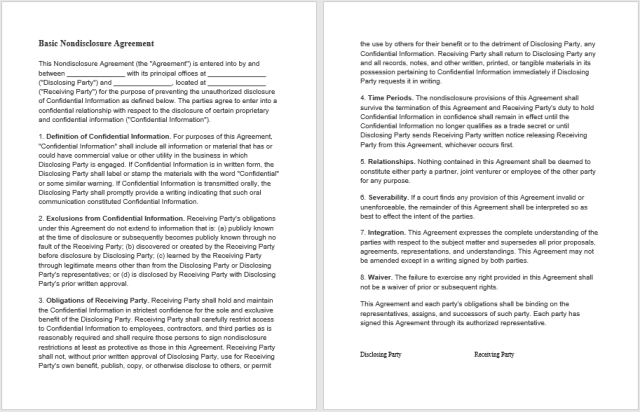 Non Disclosure Agreement Template 08