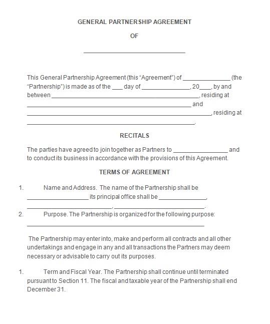 Partnership Agreement Template 09