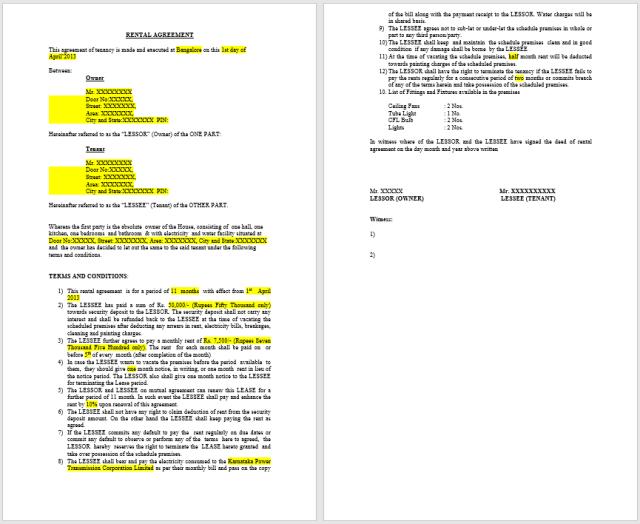 Rental Agreement Template 09