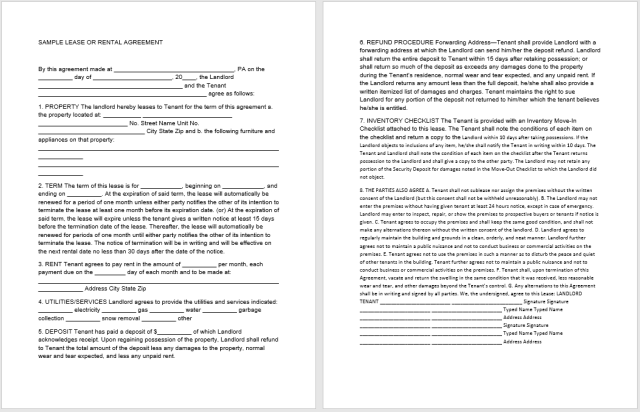 Rental Agreement Template 10