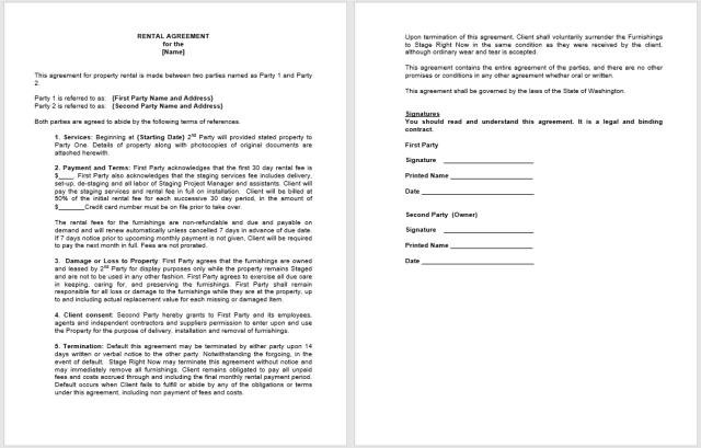 Rental Agreement Template 15