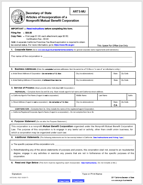 articles of incorporation template 18