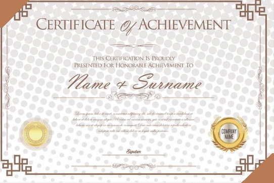 certificate of achievement template 05