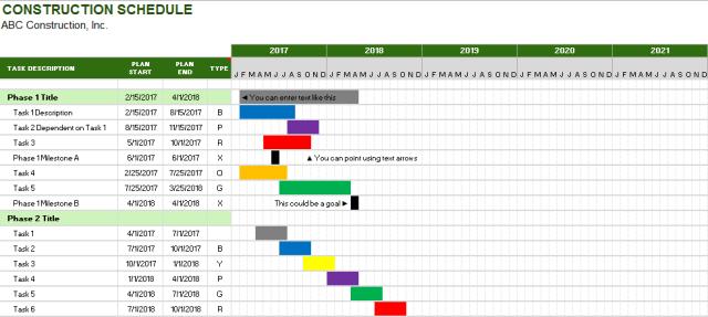 construction schedule template 09