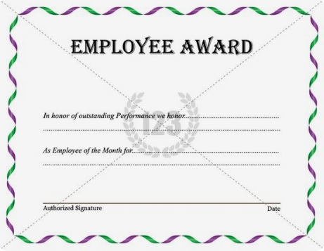 employee of month certificate template 19