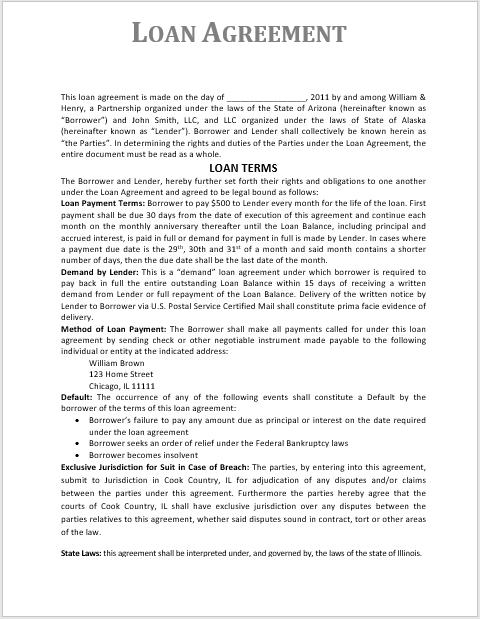 loan agreement template 09