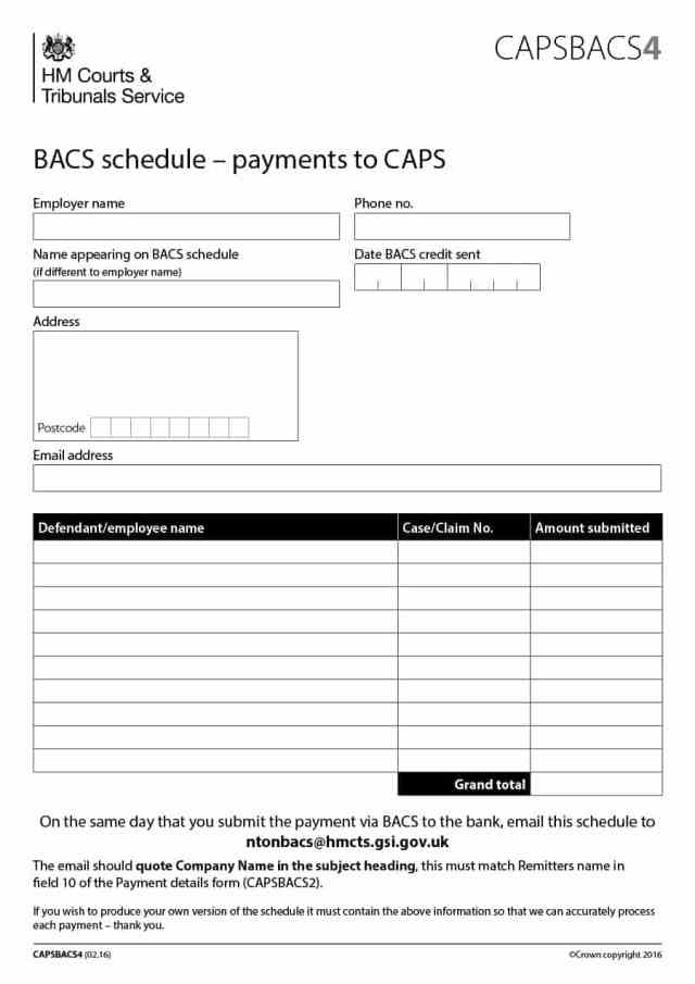 payment schedule template 10