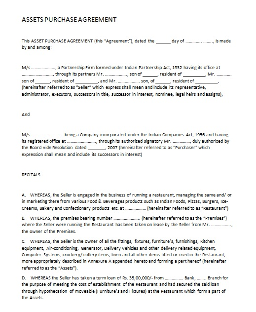 purchase agreement template 09