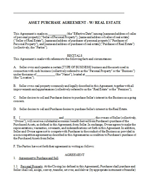 purchase agreement template 15