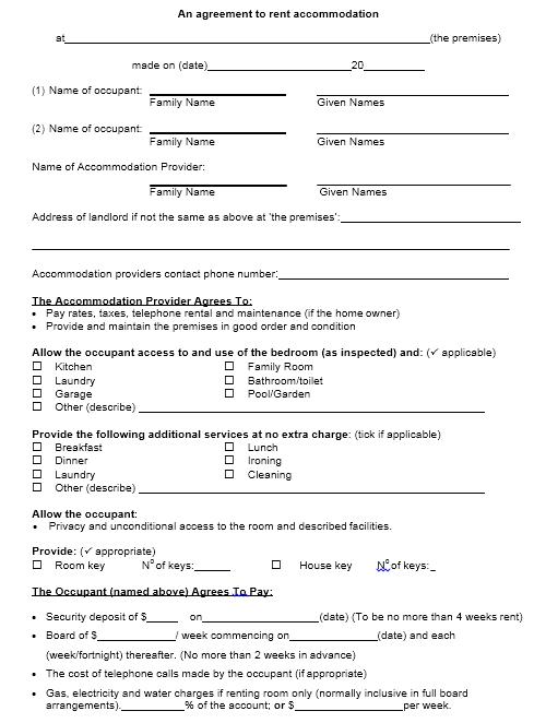 room rental agreement template 05