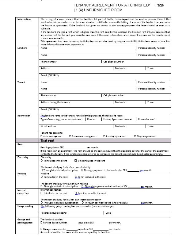 room rental agreement template 11