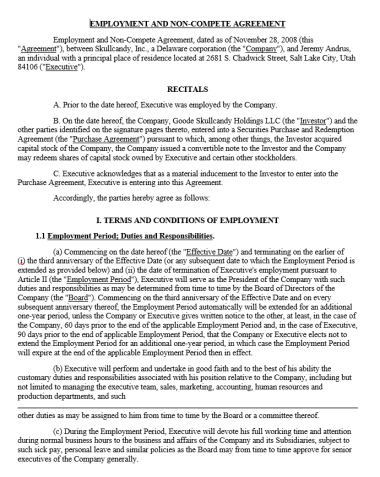 Non-Compete Agreement Template 08