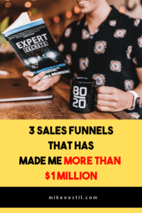 Find out how Mike Vestil discloses the three sales funnels that made him more than $1 Million.