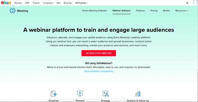 webinar software zoho