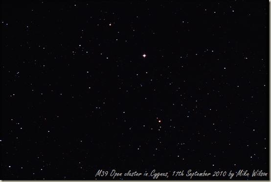 M39 - Open cluster in Cygnus