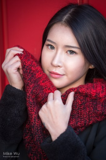 vancouver, headshot, scarf, red, asian, portrait, female, girl