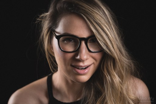 portrait, glasses, headshot, blond, vancouver, low key, indoors, face, smile, photo