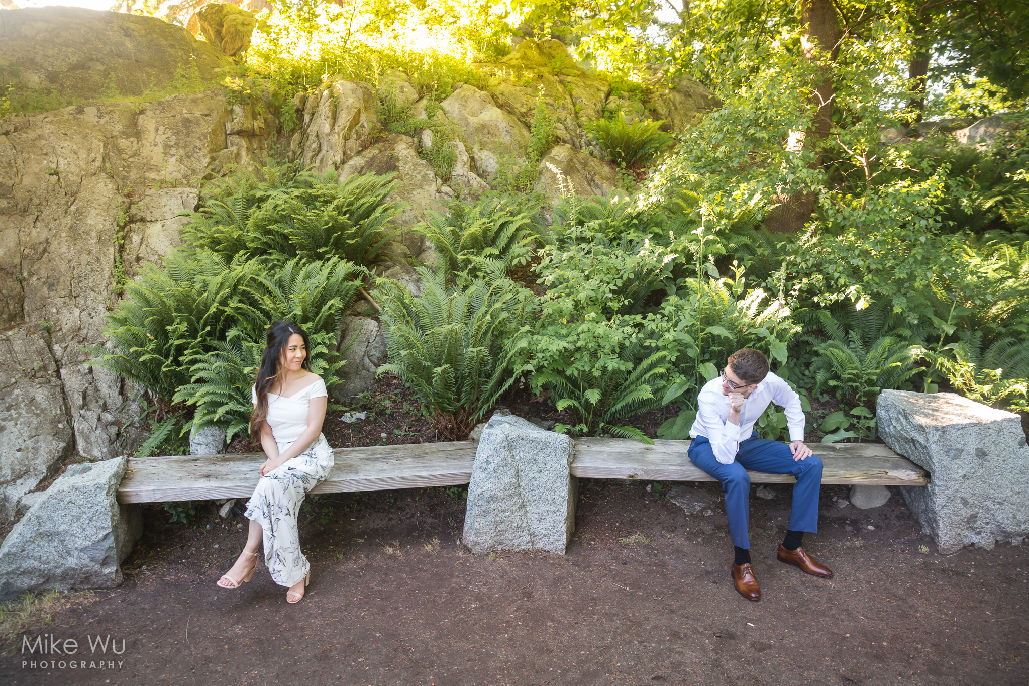 Vancouver, love, engagement, shoot, photography, North Vancouver, whytecliff partk, couple, lovely, benches, bushes, rainforest, rocks, sunset, glow, environment, beautiful, photography, shoot, photoshoot, portraits, environment, matching, pair, destiny, park