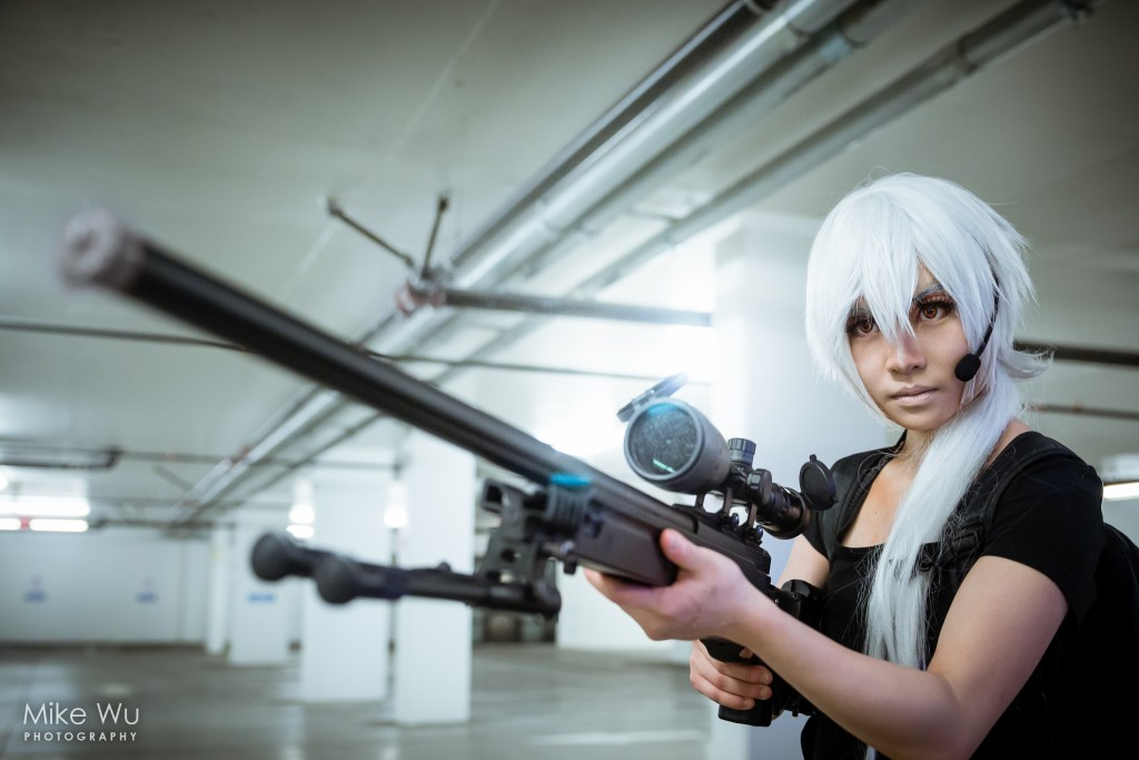 cosplay, zen, hyunryu, mystic messenger, sniper rifle, character, game, mobile, underground parking lot