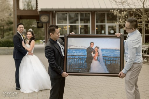 wedding, photo, portrait, frame, framing, vancouver wedding photographer, old barn community centre, stanley park, ubc, water, inception