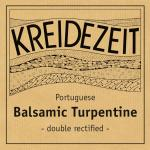 Kreidezeit Balsamic Turpentine label
