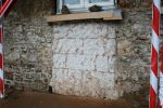Cob and stone cottage with concrete block infil panel alteration