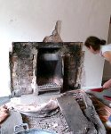 revealing the original inglenook fireplace