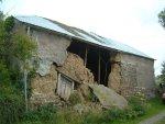 Devon Cob barn collapsed wall